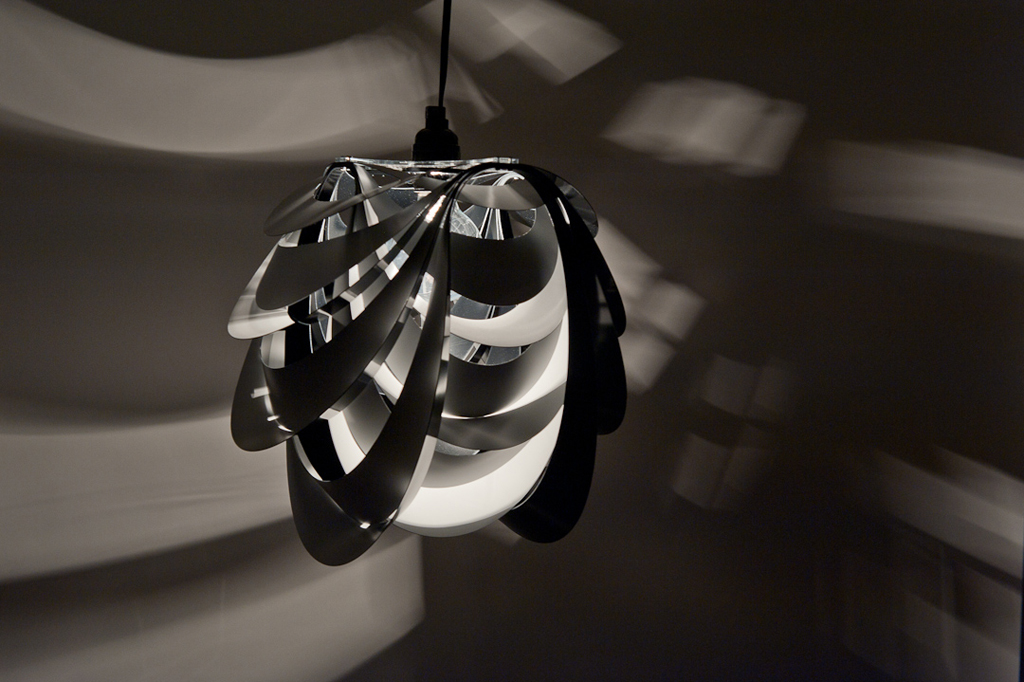 Each Of The Pendants Rings Can Be Individually Flipped To Create Dramatic Light And Shadow Effects As A Single Object Or In Multiples